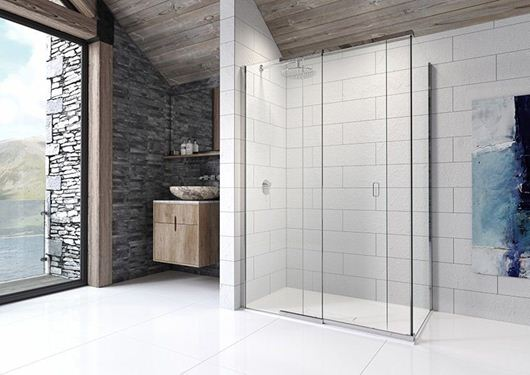 Picture of Kudos Pinnacle8 Sliding Door for Corner 1200mm