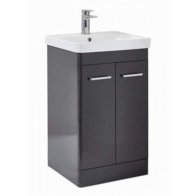 Picture of Riverside 500mm Floor Standing Vanity Unit & Basin - Wolf Grey